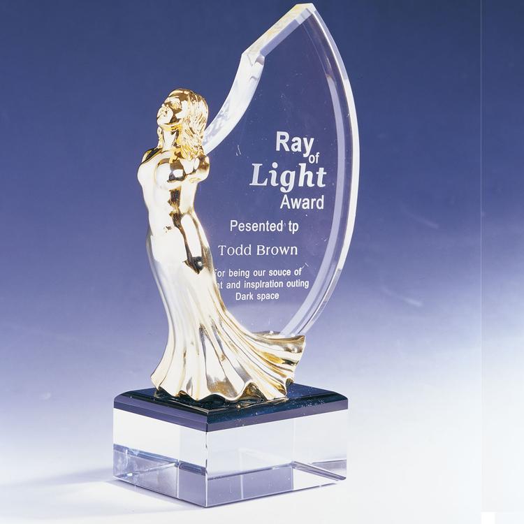 美人鱼水晶奖牌