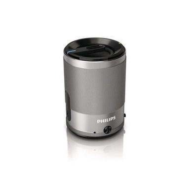 飞利浦Philips SBT50 无线蓝牙音箱 动人音效支持免提通话 银色丝印logo