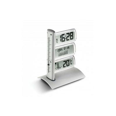 合金世界时间水晶显示钟定制