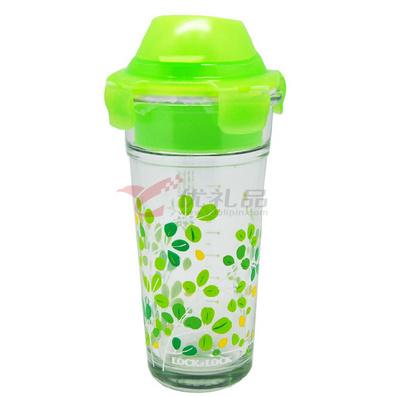 韓國樂扣樂扣格拉斯水杯/耐熱玻璃杯/創意帶蓋茶杯   430ml
