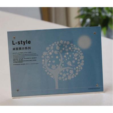 L型 強磁 臺卡臺牌 展示牌 標簽桌簽桌 廣告相框定制