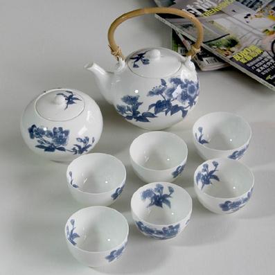 骨質瓷茶具套裝 功夫茶具 提梁茶具 茶具茶杯 釉中彩薄胎瓷器