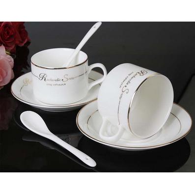 创意欧式陶瓷骨瓷咖啡杯套装 配咖啡碟咖啡勺定制