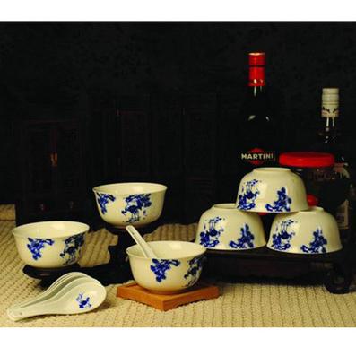 吉祥系列  12頭 餐具 (新款) 金鐘碗 骨瓷6碗6勺