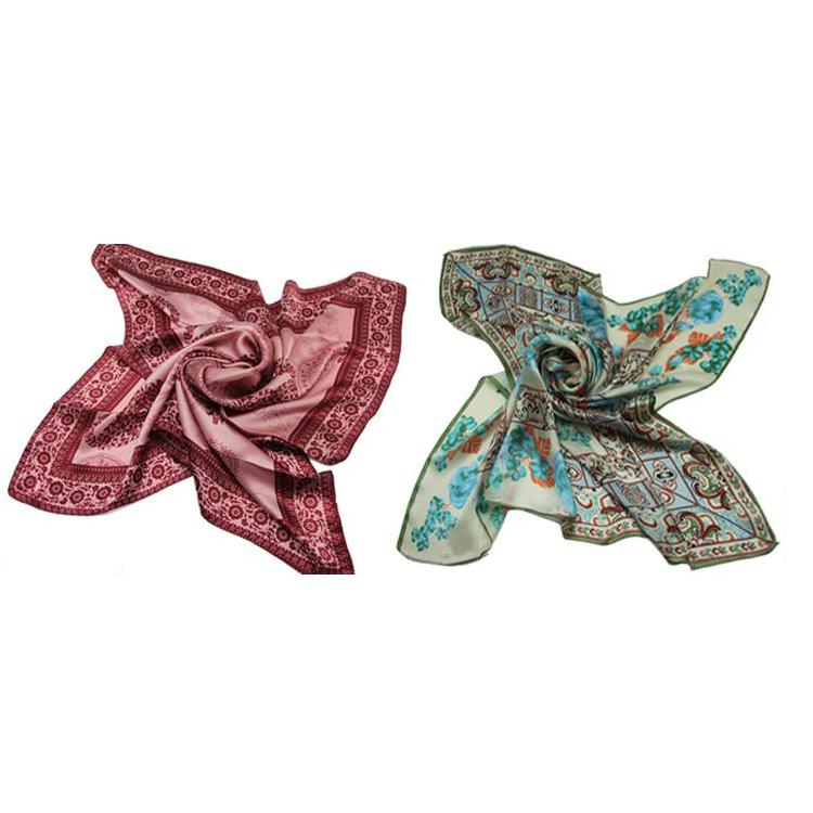 定制素縐緞方巾