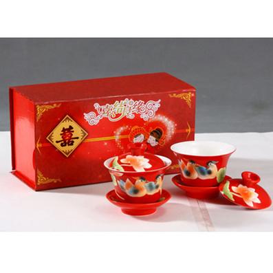 婚慶系列  琺瑯瓷二茶杯