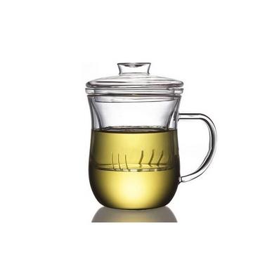 耐熱玻璃杯帶過濾內膽花草茶杯 美體杯350m定制