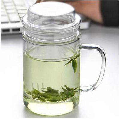 花茶杯過濾水杯 大高升杯玻璃杯批量定制