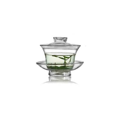 加厚玻璃功夫茶具 蓋碗可定制