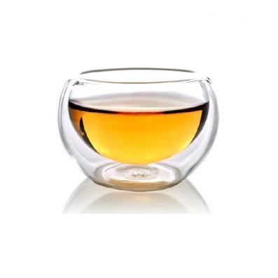 亚博体育app下载地址双层玻璃杯茶杯功夫杯手工吹制