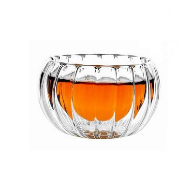 玻璃茶杯高溫南瓜雙層杯50毫升批量定制
