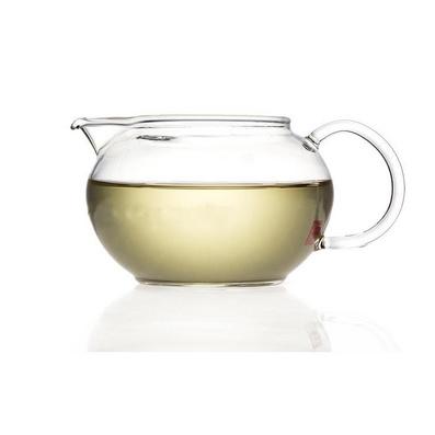 扁蘋果茶海 耐熱玻璃公道杯 功夫茶具定制