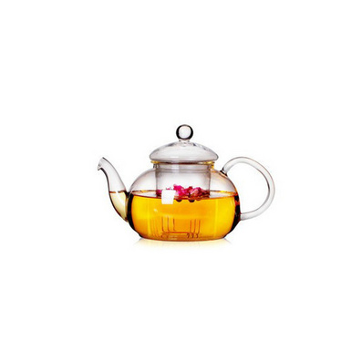 耐熱玻璃茶具 創意帶過濾內膽玻璃茶壺 唯美花茶壺定制