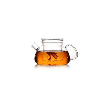 短嘴平盖壶玻璃茶具耐热玻璃花茶壶沏茶壶定制