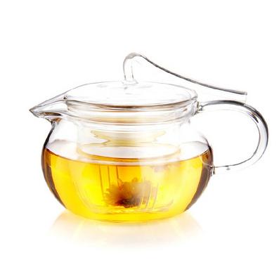 耐熱玻璃茶壺花茶壺壓把壺花草茶具定制