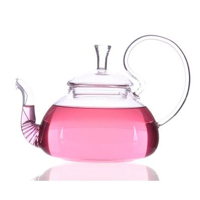 高把壺耐高溫玻璃茶具不掉蓋壺/花茶壺批量定制