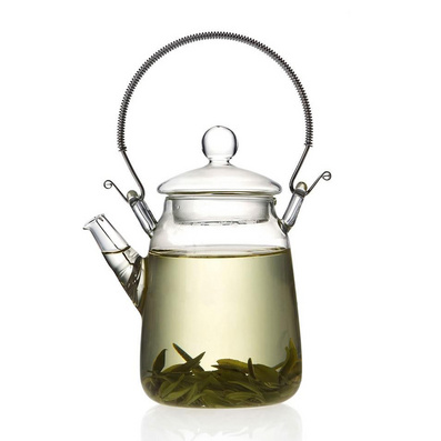 耐热玻璃茶具 提梁壶玻璃 花茶壶水壶定制