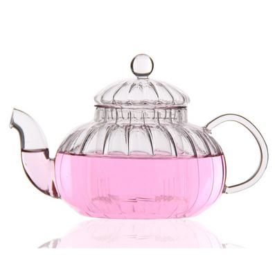 条纹壶 耐热玻璃茶具 茶壶 南瓜壶定制