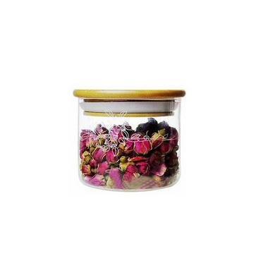 高檔小號竹蓋密封罐 茶葉罐定制