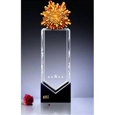 水晶獎牌獎杯 商務禮品 慶典獎品 功勛獎杯