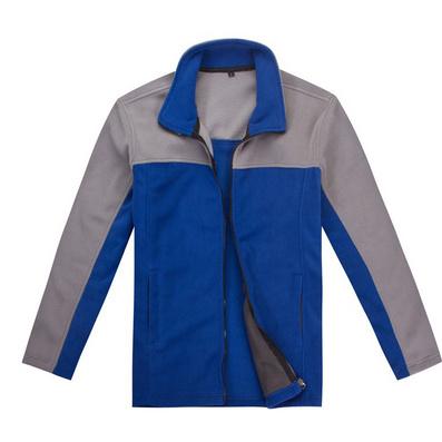 拼色长袖加厚抓绒衣 冬季保暖绒衣定做