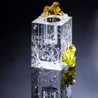 水晶烛台 商务水晶礼品