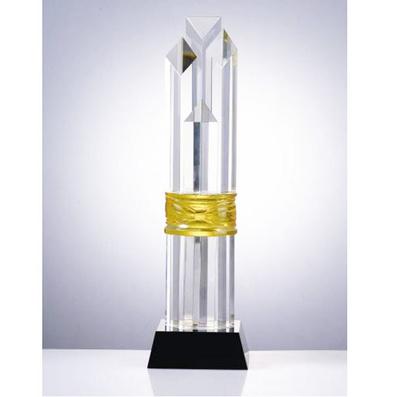 水晶獎牌獎杯 商務榮譽頒獎典禮 精誠致遠水晶獎杯