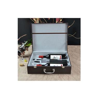 干電池電動開瓶器4件套雙支酒箱定制