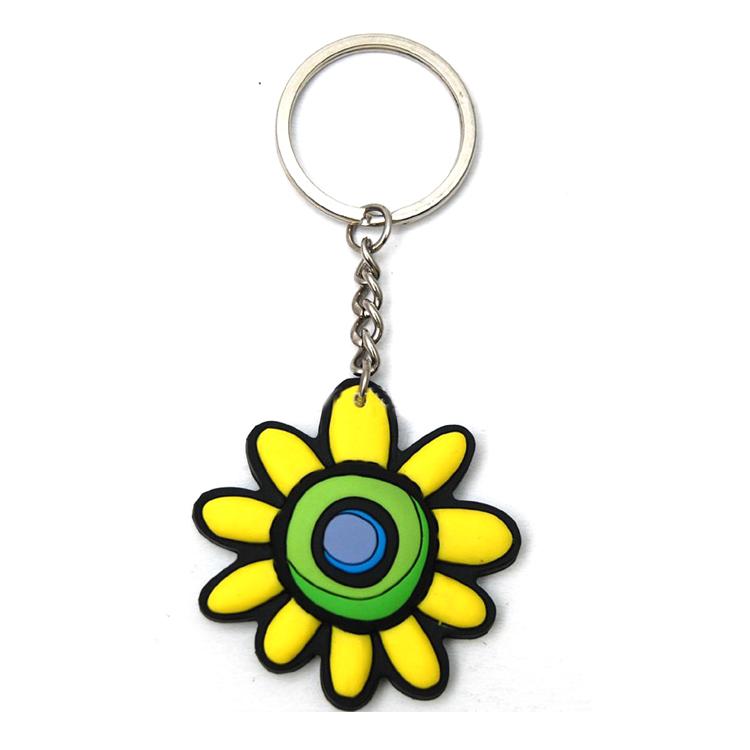 熱賣小菊花軟膠鑰匙扣 便宜又漂亮定制