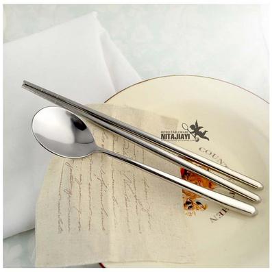 無磁不銹鋼勺空心柄筷子 不銹鋼韓款勺筷定制