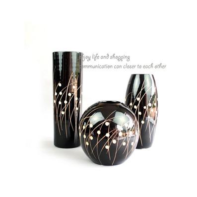 陶藝三件套花瓶花插定制