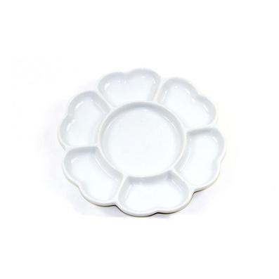 陶瓷多格花瓣型調色盤批量定制