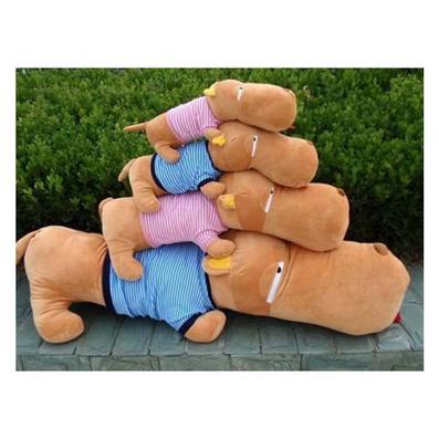 毛絨玩具狗再次微笑 大頭狗 趴趴狗公仔、 抱枕定制