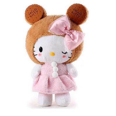hello kitty毛絨玩具餅干KT貓毛絨玩具定制