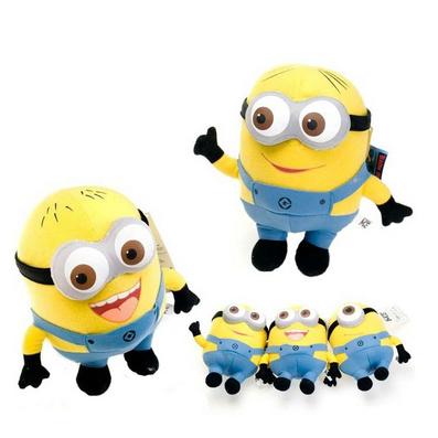 3D眼卑鄙的我2神偷奶爸小黃人公仔黃豆豆毛絨玩具定制