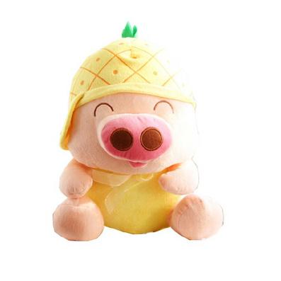 水果麥兜豬毛絨玩具公仔 麥兜娃娃定制
