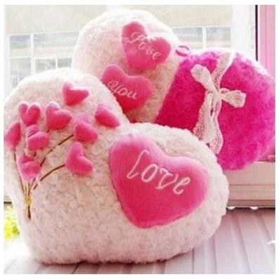 Love愛心抱枕 心形靠枕 毛絨玩具定制