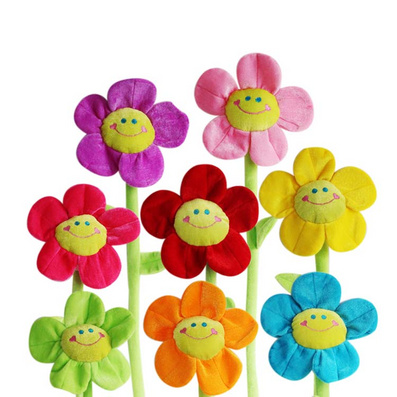 毛絨玩具仿真太陽花 毛絨花 向日葵定制