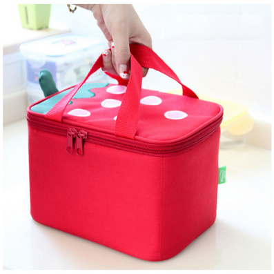 草莓方形保溫飯盒袋 便當保溫包 冰包保溫袋定制