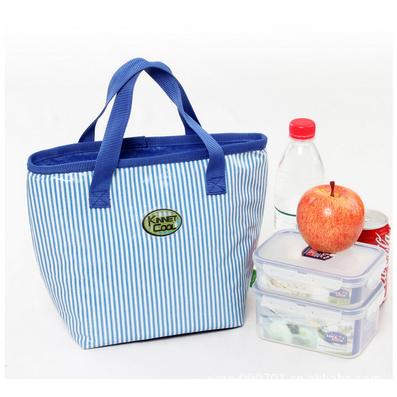 海軍風手拎 便當包 保溫袋 午餐飯盒包 野餐包定制