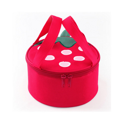 草莓時尚可愛保溫袋 飯盒袋 便當包 飯盒包定制