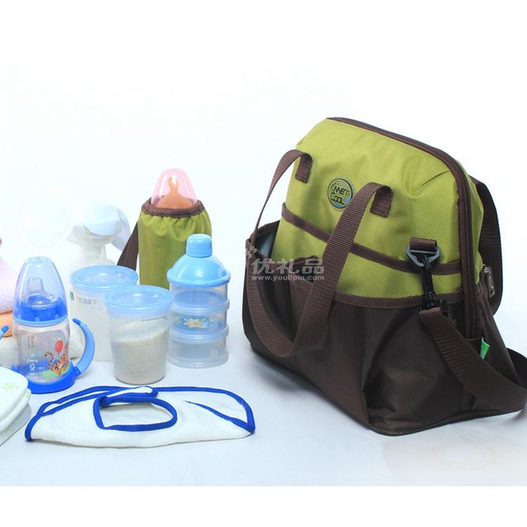 綠色多功能保溫包 保溫袋 媽咪包 冰包 加厚牛津布 背奶包定制