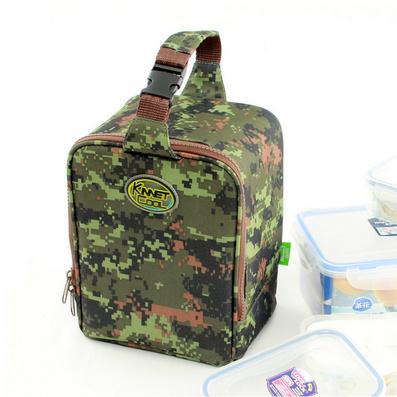 手提迷彩野餐包飯盒袋 保溫包保溫袋 便當包定制