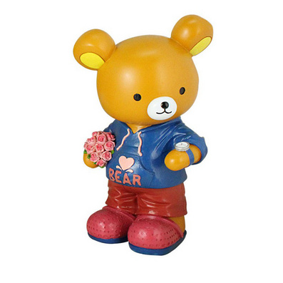 轻松熊创意树脂钱罐 个性家居摆设批量定制