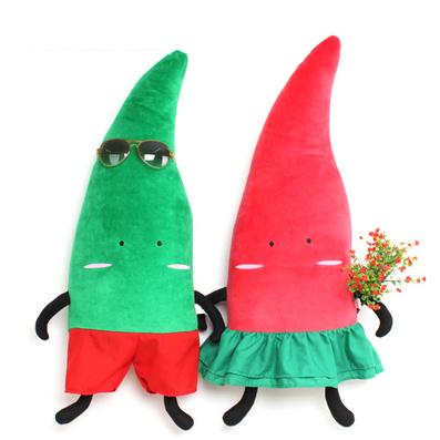 圣誕抱枕 田園蔬菜風 辣椒抱枕定制