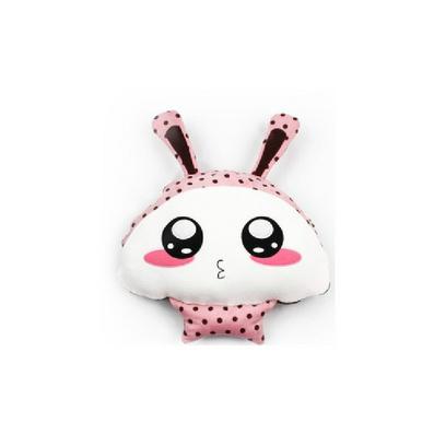 長耳朵兔娃娃 卡通抱枕被子 兩用抱枕被定制