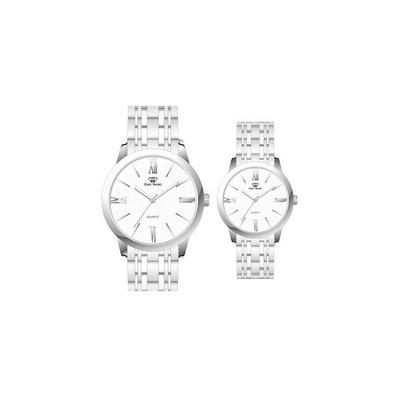 天王表TIANWANG 石英表時尚鋼帶情侶手表