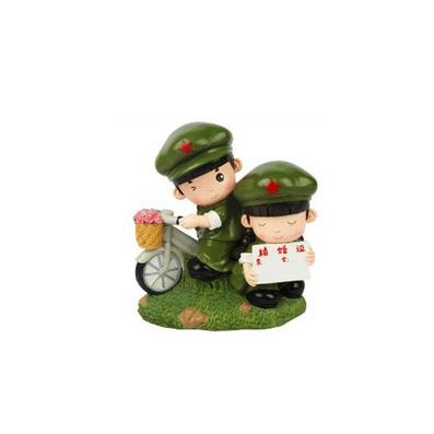 革命愛情系列居家裝飾品 小兵愛情結婚證樹脂錢罐存錢罐