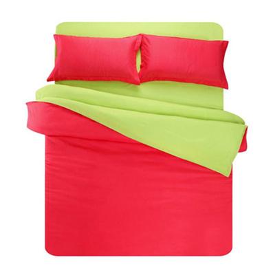活性素色雙拼四件套 磚紅綠/墨綠玉
