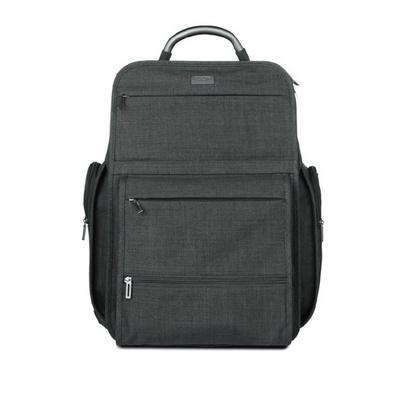 14寸雙層電腦包加厚商務背包雙肩包定制